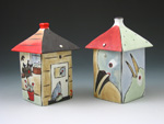 2 Bird Houses Canisters